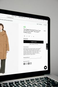 Photo of ecommerce, coat purchase